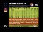 2007 Topps #143  Vicente Padilla  Back Thumbnail