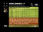 2007 Topps #165  Mark Buehrle  Back Thumbnail