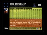 2007 Topps #118  Emil Brown  Back Thumbnail