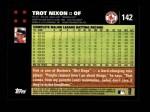 2007 Topps #142  Trot Nixon  Back Thumbnail