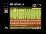 2007 Topps #179  Joe Nathan  Back Thumbnail