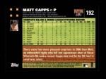 2007 Topps #192  Matt Capps  Back Thumbnail