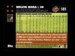 2007 Topps #181  Melvin Mora  Back Thumbnail
