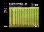 2007 Topps #133  Gary Sheffield  Back Thumbnail