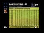 2007 Topps #133  Gary Sheffield  Back Thumbnail