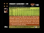 2007 Topps #140  Freddy Sanchez  Back Thumbnail