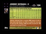 2007 Topps #104  Johnny Estrada  Back Thumbnail