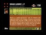2007 Topps #158  Noah Lowry  Back Thumbnail