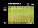 2007 Topps #109  Billy Wagner  Back Thumbnail