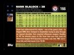 2007 Topps #166  Hank Blalock  Back Thumbnail