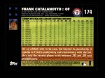 2007 Topps #174  Frank Catalanotto  Back Thumbnail