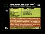 2007 Topps #244   Tampa Bay Devil Rays Back Thumbnail