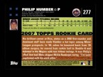 2007 Topps #277  Philip Humber  Back Thumbnail