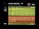 2007 Topps #260  David Wright  Back Thumbnail
