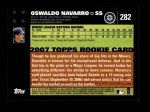 2007 Topps #282  Oswaldo Navarro  Back Thumbnail