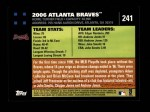 2007 Topps #241   Atlanta Braves Back Thumbnail
