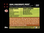 2007 Topps #237   Cincinnati Reds Back Thumbnail