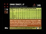2007 Topps #245  Chad Tracy  Back Thumbnail