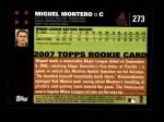 2007 Topps #273  Miguel Montero  Back Thumbnail