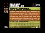 2007 Topps #299   -  Orlando Hudson Golden Glove Back Thumbnail