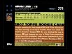 2007 Topps #279  Adam Lind  Back Thumbnail
