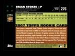 2007 Topps #276  Brian Stokes  Back Thumbnail