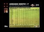 2007 Topps #211  Armando Benitez  Back Thumbnail