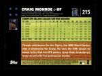 2007 Topps #215  Craig Monroe  Back Thumbnail