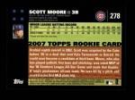 2007 Topps #278  Scott Moore  Back Thumbnail