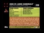 2007 Topps #228   St. Louis Cardinals Back Thumbnail