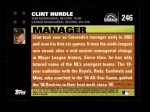 2007 Topps #246  Clint Hurdle  Back Thumbnail