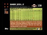 2007 Topps #230  Barry Zito  Back Thumbnail
