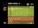 2007 Topps #217  Chris Coste  Back Thumbnail