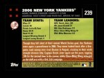 2007 Topps #239   New York Yankees Back Thumbnail