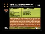 2007 Topps #234   Pittsburgh Pirates Back Thumbnail