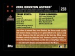 2007 Topps #233   Houston Astros Back Thumbnail