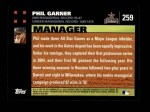 2007 Topps #259  Phil Garner  Back Thumbnail