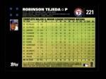 2007 Topps #221  Robinson Tejeda  Back Thumbnail