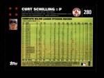 2007 Topps #280  Curt Schilling  Back Thumbnail