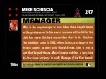 2007 Topps #247  Mike Scioscia  Back Thumbnail