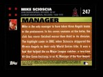 2007 Topps #247  Mike Scioscia  Back Thumbnail