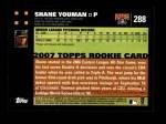 2007 Topps #288  Shane Youman  Back Thumbnail