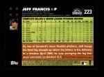 2007 Topps #223  Jeff Francis  Back Thumbnail