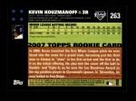 2007 Topps #263  Kevin Kouzmanoff  Back Thumbnail