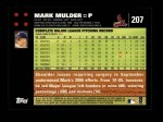 2007 Topps #207  Mark Mulder  Back Thumbnail