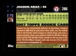 2007 Topps #286  Joaquin Arias  Back Thumbnail