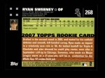 2007 Topps #268  Ryan Sweeney  Back Thumbnail