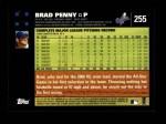 2007 Topps #255  Brad Penny  Back Thumbnail