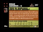 2007 Topps #297   -  Brad Ausmus Golden Glove Back Thumbnail