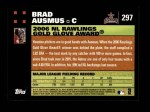 2007 Topps #297   -  Brad Ausmus Golden Glove Back Thumbnail